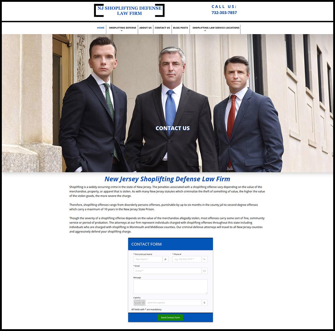 Nj Website Design And Seo Nj Shoplifting Defense Law Firm
